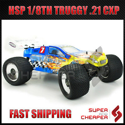 HSP RC Car Battle Pro 2.4Ghz 21cxp 1/8 Off Road Nitro Gas Truggy 94761