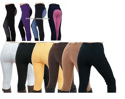 Childrens/Childs/Kids Quality Riding Jodhpurs/jodphurs in Plain or Two Tone