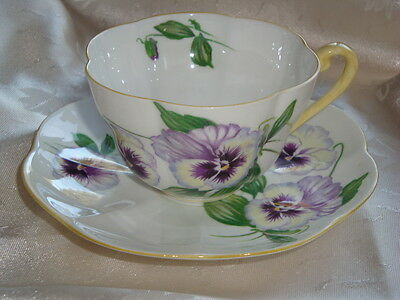 Shelley Warwick PANSY Cup and Saucer Duet ~  #13823