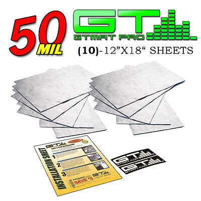 50 MIL Automotive Firewall Sound Deadener Heat Insulation Deadening Material Mat