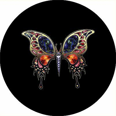 Butterfly 2 fractacl Spare Tire Cover Wheel Cover Jeep RV Camper(all sizes avail