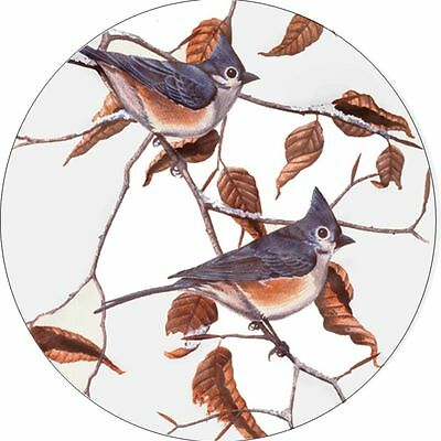 Bird # 8 Tufted Titmice Spare Tire Cover Jeep RV Camper etc(all sizes available)