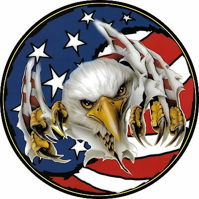 Eagle #3 American US Flag Spare Tire Cover Jeep RV Camper & More(all sizes avail