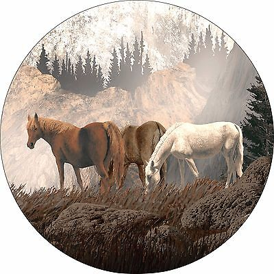 Horse #11 mountain grazing Spare Tire Cover Jeep RV Camper Trailer(all sizes)