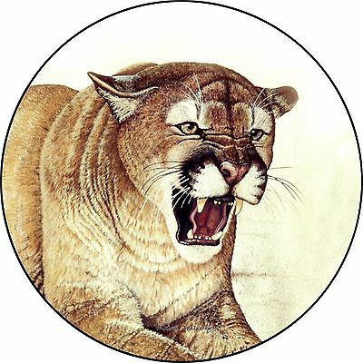 Cougar Spare Tire Cover Wheel Cover Jeep RV Camper & more(all sizes available)