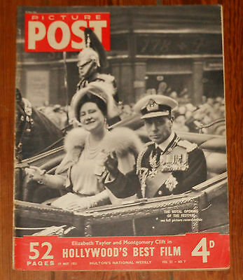 PICTURE POST 19 May 1951 Royalty UK England Queen Elizabeth King George VI royal