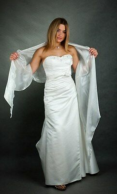 New Womens 2 Tone Shimmer Organza Wedding Wrap Evening Prom Shawl Shrug Stole