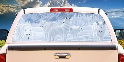 Wolf # 1 -Rear Window Tint-Murals-Decals-Graphics