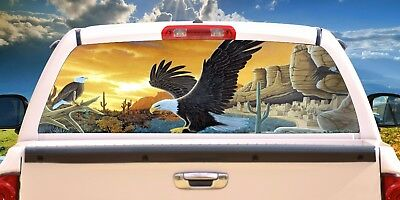 Eagle # 9 - Rear Window Tint-Murals-Decals-Graphics