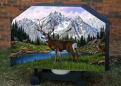 Deer # 5 BBQ Barbeque Gas Grill Cover