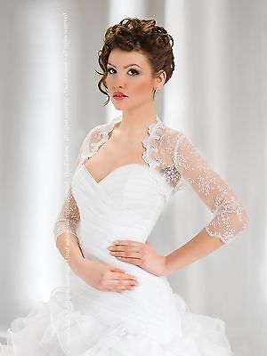 Wedding New Top Lace Bolero/Shrug/Jacket Three Quarter Sleeve S M L XL XXL