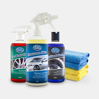 SHOWROOM SHINE by Greased Lightning Exterior Valeting Car Care Kit 7 Piece kit