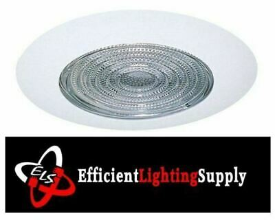 "6"" Inch Recessed Can Light Shower Trim Clear Glass Fresnel Lens"