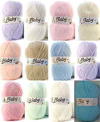 Baby Wool, Soft DK Double Knitting Yarn, Woolcraft Babycare 100g BUY 10+ SAVE 5%