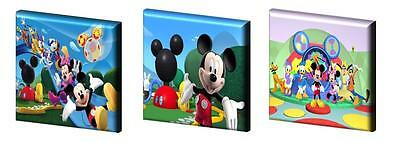 """MICKEY MOUSE CLUBHOUSE -CANVAS PICTURES -FREE POST- 6"""",8"""",10"""" + 12"""" from £11.99"""