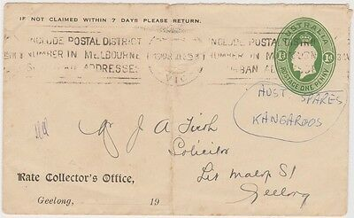 (SF25)1930 Au PSE1dGreen GeorgeV Rate Collectors Office