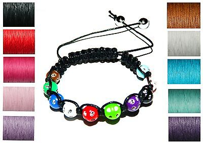 Diamante Beads Cord Braided Friendship Bracelet Making Kit Instructions Macrame