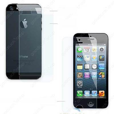 Lot 10x 20x 50x 100pcs Clear Front and back screen protector for iPhone 5 5G 5S