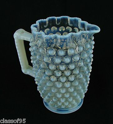 Elson ~ French Opalescent ~ Dew Drop ~ Pitcher ~ c.1887 ~ Mint Condition