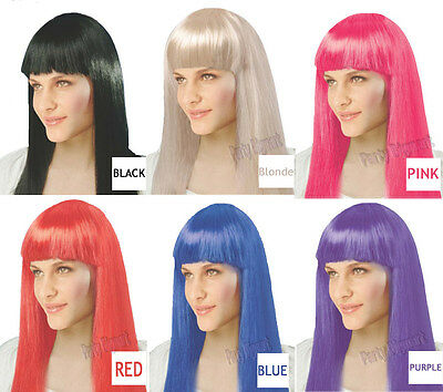 New Womens Bob Style Long Straight Fringe Party Costume Wig-Choice Of Colours-AU