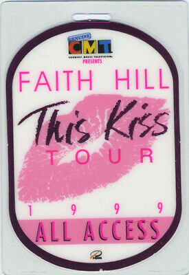 FAITH HILL 1999 THIS KISS TOUR Laminated Backstage Pass