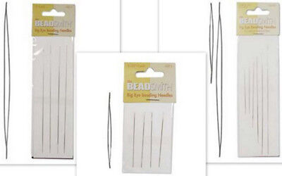 Big Eye Beading Needles - Perfect for bead threading - various sizes