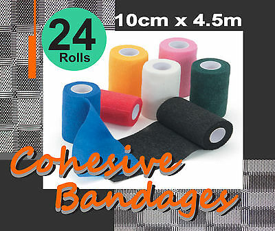 "COMFORT HORSE 24 ROLLS COHESIVE BANDAGES 10cmX4.5m ""FREE POSTAGE"""