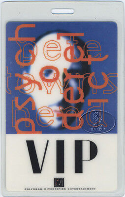 Pete Townshend 1993 Psychoderelict Tour Laminated Backstage Pass The Who