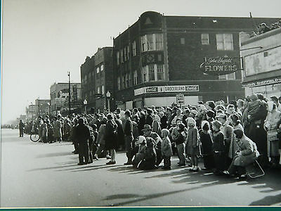 Vintage Framed St. Patrick's Day Photo of Parade Crowd