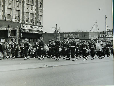 Vintage Framed St. Patrick's Day Photo of Marching Band
