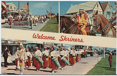 PZoc REHOBOTH BEACH DE Shriners Parade and Convention 60s Delaware Postcard