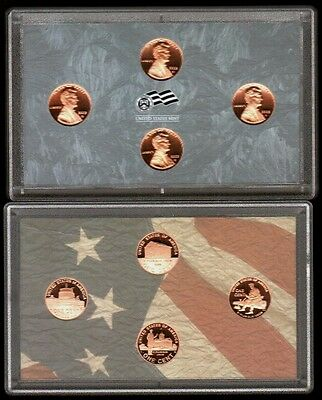 2009 S Proof Lincoln Bicentennial 4 Cent Set No Box/Coa Ungraded Uncertified