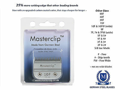 Masterclip German Steel F & Skip Tooth Dog Clipper Blades - Fit Oster & Andis