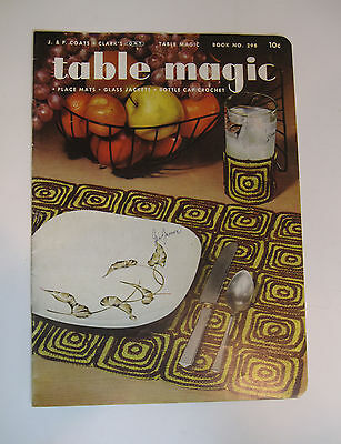 "Vintage Gay & Gifty Pot Holders Directions Booklet ""Table Magic"" c. 1953"