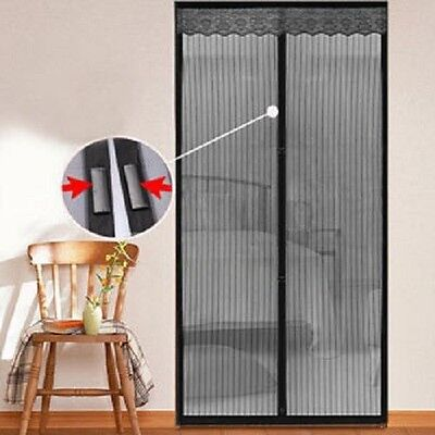 INSTANT MOSQUITO NET / Screen Door Mesh w/18 powerful magnets NEW USA seller