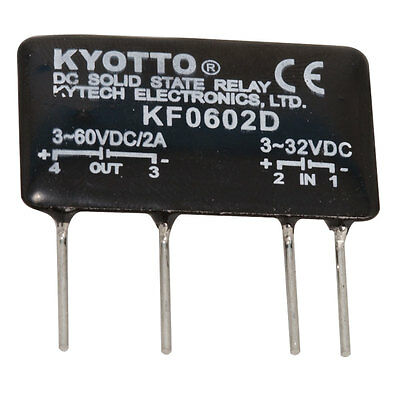 Kyotto KF0602D Relay Solid State 32 Volt DC Input 2 Amp 60 Volt DC Output 4-Pin