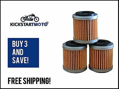 Oil Filters for Yamaha WR250F WR450F YZ250F YZ450F YFZ450ATV (3 PACK) WR YZ 450