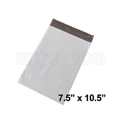 200 ct 7.5x10.5 Poly Mailers Envelopes Shipping Bags White Plastic Self Seal Bag