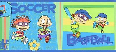 RUGRATS RUG RATS Sports Wallpaper Wall Border 4 yds = 12 feet Childs