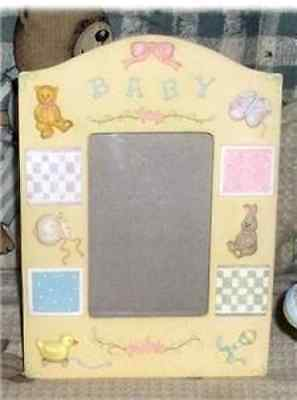 Baby Girl Toys FIRST PHOTO Keepsake Picture Frame Porcelain