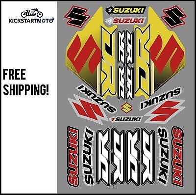 Sticker/Decal set for Suzuki DR125 DR200 DR250 DR350 DR650 DR Stickers
