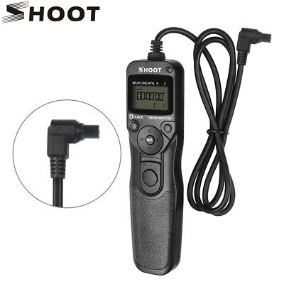 SHOOT RS-80N3 Timer Remote Shutter Release for Canon 10D 20D 30D 40D 50D 5D 6D
