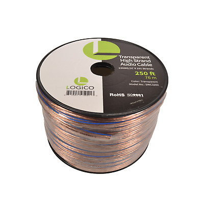 Car Home Audio Speaker Wire 14 Gauge 250 ft Audio Speaker Cable 14AWG 250'
