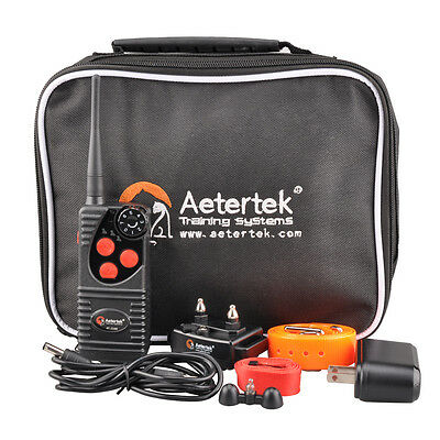 AETERTEK WATERPROOF 550M/600 Yard Remote Dog Shock Training Collar Rechargeable