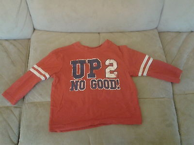 Baby Boys 12-18 months - Red Long Sleeve Top - Up 2 No Good!
