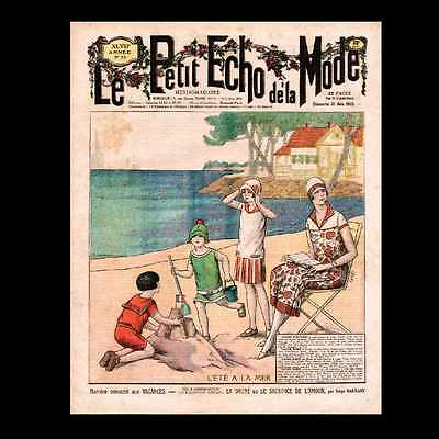 Dollshouse Miniature Newspaper - French Fashion Magazine 1925