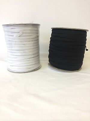 "Elastic 12 mm  1.2cm ( 1/2"" ) - Superior Quality 1/2 Inch,white & Black"