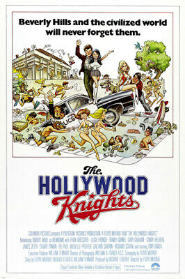 THE HOLLYWOOD KNIGHTS movie poster BEVERLY HILLS SEX COMEDY antics  24X36