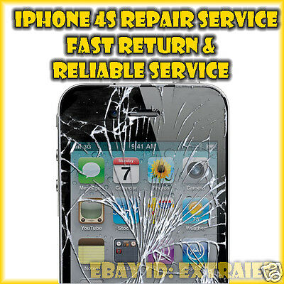 iPhone 4S Front Glass Cracked Screen LCD Replacement Repair Service