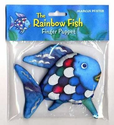 Rainbow Fish Finger Puppet by Marcus Pfister (English) Free Shipping!